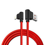 Charger USB Data Cable Charging Cord D15 for Apple iPhone SE (2020) Red