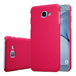 Hard Rigid Plastic Matte Finish Case Back Cover M01 for Samsung Galaxy A8 (2016) A8100 A810F Red