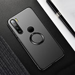 Hard Rigid Plastic Matte Finish Case Cover with Magnetic Finger Ring Stand P02 for Xiaomi Redmi Note 8 Black
