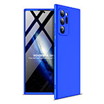 Hard Rigid Plastic Matte Finish Front and Back Cover Case 360 Degrees for Samsung Galaxy Note 20 Ultra 5G Blue