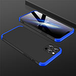 Hard Rigid Plastic Matte Finish Front and Back Cover Case 360 Degrees M01 for Apple iPhone 12 Pro Blue and Black