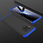 Hard Rigid Plastic Matte Finish Front and Back Cover Case 360 Degrees M01 for Xiaomi Mi 10T Lite 5G Blue and Black