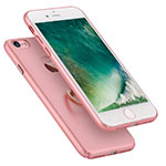 Hard Rigid Plastic Matte Finish Snap On Case with Finger Ring Stand A01 for Apple iPhone SE (2020) Pink