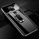 Hard Rigid Plastic Mirror Cover Case 360 Degrees Magnetic Finger Ring Stand for Huawei Mate 20 Black