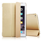 Leather Case Stands Flip Cover for Apple iPad Air 2 Gold
