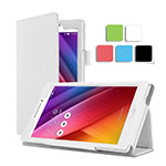 Leather Case Stands Flip Cover for Asus ZenPad C 7.0 Z170CG White