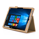 Leather Case Stands Flip Cover for Microsoft Surface Pro 3 Gold