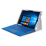 Leather Case Stands Flip Cover for Microsoft Surface Pro 4 White