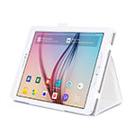 Leather Case Stands Flip Cover for Samsung Galaxy Tab S2 9.7 SM-T810 SM-T815 White