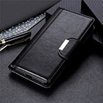 Leather Case Stands Flip Cover Holder for OnePlus Nord N10 5G Black