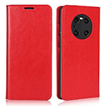 Leather Case Stands Flip Cover K02 Holder for Huawei Mate 40 Pro Red