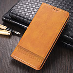 Leather Case Stands Flip Cover K03 Holder for Huawei Mate 40 Pro Light Brown