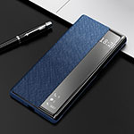 Leather Case Stands Flip Cover K08 Holder for Huawei Mate 40 Pro Blue
