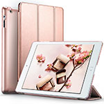 Leather Case Stands Flip Cover L01 for Apple iPad 2 Rose Gold