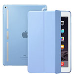 Leather Case Stands Flip Cover L02 for Apple iPad Pro 12.9 Sky Blue