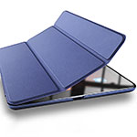 Leather Case Stands Flip Cover L03 for Xiaomi Mi Pad 3 Blue