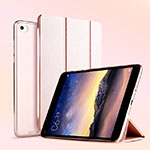 Leather Case Stands Flip Cover L04 for Xiaomi Mi Pad 3 Rose Gold