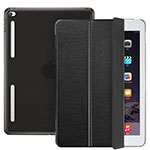 Leather Case Stands Flip Cover L06 for Apple iPad Mini 4 Black