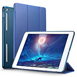 Leather Case Stands Flip Cover L06 for Apple iPad Mini 4 Blue