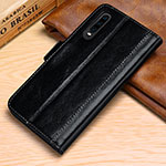 Leather Case Stands Flip Cover P01 Holder for Huawei P30 Black