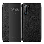 Leather Case Stands Flip Cover P02 Holder for Huawei P30 Pro Black