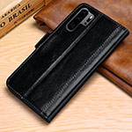 Leather Case Stands Flip Cover P03 Holder for Huawei P30 Pro Black