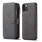 Leather Case Stands Flip Cover T01 Holder for Apple iPhone 11 Pro Black