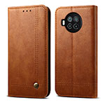 Leather Case Stands Flip Cover T02 Holder for Xiaomi Mi 10T Lite 5G Light Brown