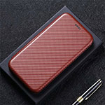 Leather Case Stands Flip Cover T03 Holder for Huawei Mate 40 Pro Brown
