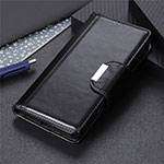 Leather Case Stands Flip Cover T03 Holder for Oppo Reno4 Pro 5G Black