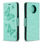 Leather Case Stands Flip Cover T03 Holder for Xiaomi Mi 10T Lite 5G Matcha Green