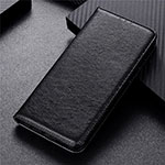 Leather Case Stands Flip Cover T04 Holder for Oppo Reno4 Pro 5G Black
