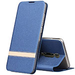 Leather Case Stands Flip Cover T04 Holder for Xiaomi Mi 9T Pro Blue