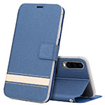 Leather Case Stands Flip Cover T05 Holder for Huawei P30 Blue