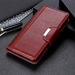 Leather Case Stands Flip Cover T05 Holder for Oppo Find X2 Pro Brown