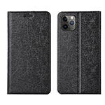 Leather Case Stands Flip Cover T06 Holder for Apple iPhone 11 Pro Black