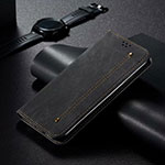Leather Case Stands Flip Cover T06 Holder for Xiaomi Mi 10 Pro Black
