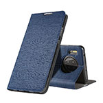 Leather Case Stands Flip Cover T07 Holder for Huawei Mate 30 Pro Blue