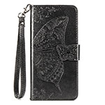 Leather Case Stands Flip Cover T07 Holder for Xiaomi Mi 10 Pro Black