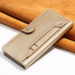 Leather Case Stands Flip Cover T08 Holder for Oppo Find X2 Pro Gold