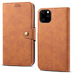 Leather Case Stands Flip Cover T09 Holder for Apple iPhone 11 Pro Orange