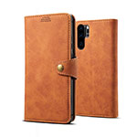 Leather Case Stands Flip Cover T09 Holder for Huawei P30 Pro Orange