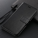 Leather Case Stands Flip Cover T09 Holder for Oppo Find X2 Pro Black