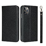 Leather Case Stands Flip Cover T10 Holder for Apple iPhone 11 Pro Black
