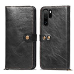 Leather Case Stands Flip Cover T10 Holder for Huawei P30 Pro Black