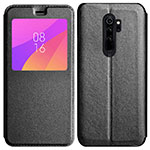 Leather Case Stands Flip Cover T11 Holder for Xiaomi Redmi Note 8 Pro Black