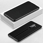 Leather Case Stands Flip Cover T12 Holder for Xiaomi Redmi Note 8 Pro Black
