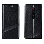 Leather Case Stands Flip Cover T14 Holder for Xiaomi Mi 9T Pro Black