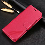 Leather Case Stands Flip Cover T14 Holder for Xiaomi Redmi Note 8 Pro Hot Pink