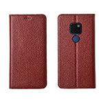 Leather Case Stands Flip Cover T15 Holder for Huawei Mate 20 Brown